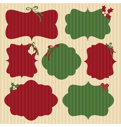 Christmas Cardboard Labels vector image vector image