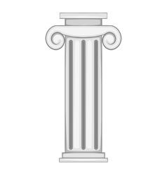 Decorative roman pillar icon vector image vector image
