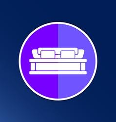 double bed icon button logo symbol concept vector image