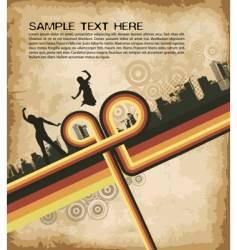 grunge retro party brochure vector image