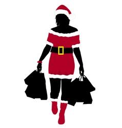 christmas girl vector image
