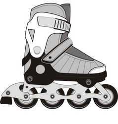 extreme sports roller skates vector image vector image