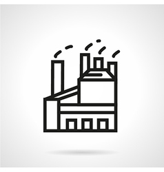 Industrial factory building simple line vector image