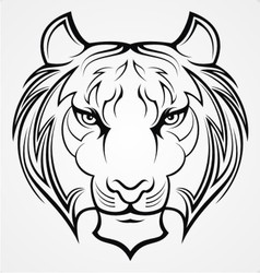 Tribal Tiger Face vector image vector image