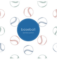 a collection of baseball elements seamless vector image