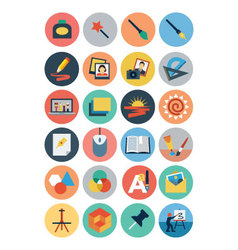 Flat Design Icons 4 vector image vector image