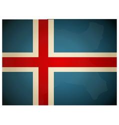 Vintage Iceland Flag vector image
