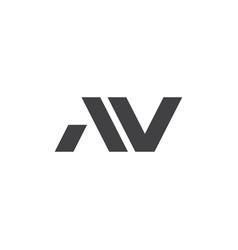 A v letter logo lettermark av monogram elegant lux vector