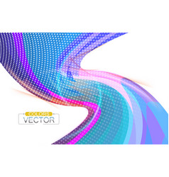 Abstract colors curve shape scene vector