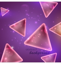 Abstract purple background with triangle shapes vector