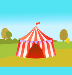 Amusement park with tent for circus performances vector