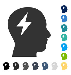 Brainstorming icon vector