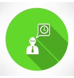 businessman talk about time icon vector image