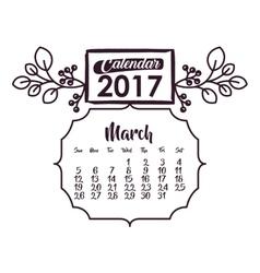 Calendar of 2017 year design vector image