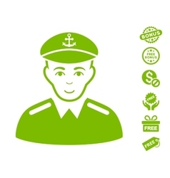 Captain Icon With Free Bonus vector