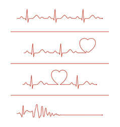 cardiogram lines set vector image