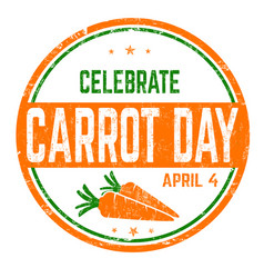 Carrot day sign or stamp vector