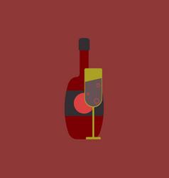 Champagne bottle vector