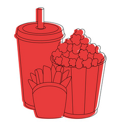 cinema food cup vector image