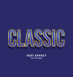 classic blue text effect vector image