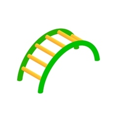 Climbing stairs isometric 3d icon vector