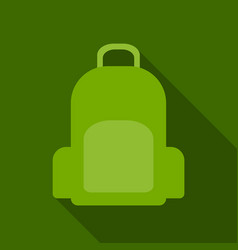 colorful school backpack backpack for vector image
