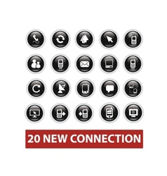 connection buttons set vector image vector image