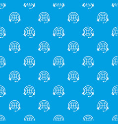 consultation worldwide pattern seamless vector image
