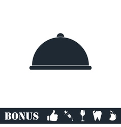 Covered Food icon flat vector
