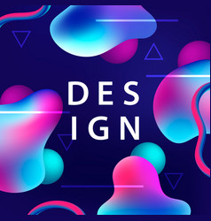 Creative design with plastic colorful shapes vector