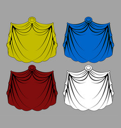Curtain cloth vector