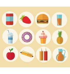 Delicius food Food icon set icon Menu concept vector