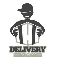delivery service or express shipment shop vector image