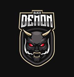 demon mascot logo design with modern vector image