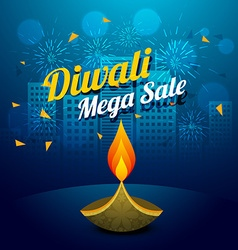 Diwali mega sale design vector