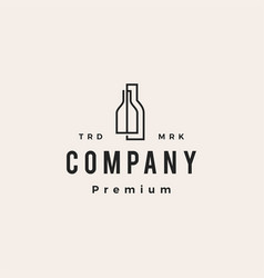 Double bottle hipster vintage logo icon vector