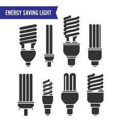 energy saving light set of energy saving vector image