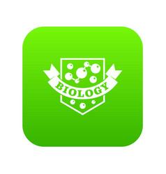 evolution biology icon green vector image
