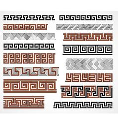 Greek style borders vector image