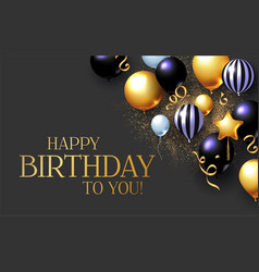 Happy birthday congratulations card template with vector