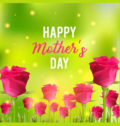 Happy mothers day festive card vector
