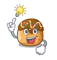Have an idea takoyaki shape in balls a cartoon vector