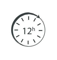 Image a clock that runs twelve hours vector