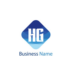 Initial letter hg logo template design vector