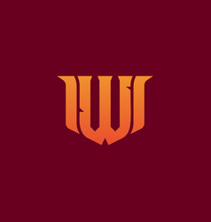 letter w game logo esport gaming e-sport vector image