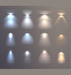 Light effects brick wall set vector