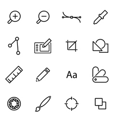 line graphic design icon set vector image vector image