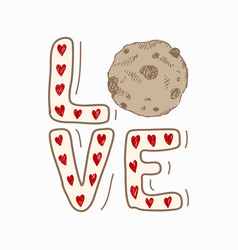 love hand drawn creative sketch isolated on white vector image