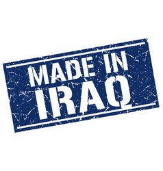 Made in iraq stamp vector