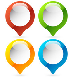 map marker map pin icon in 4 colors vector image